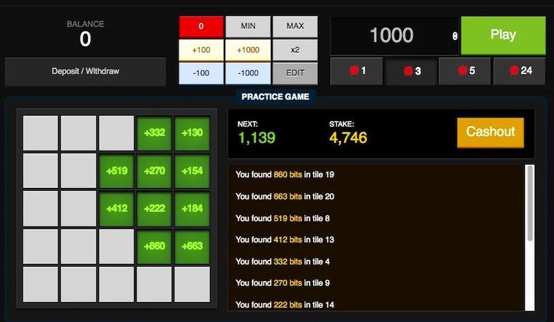 The Bitcoin Minesweeper Casino Spiel